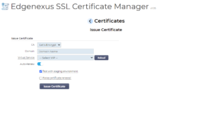 Creating a new SSL Certificate