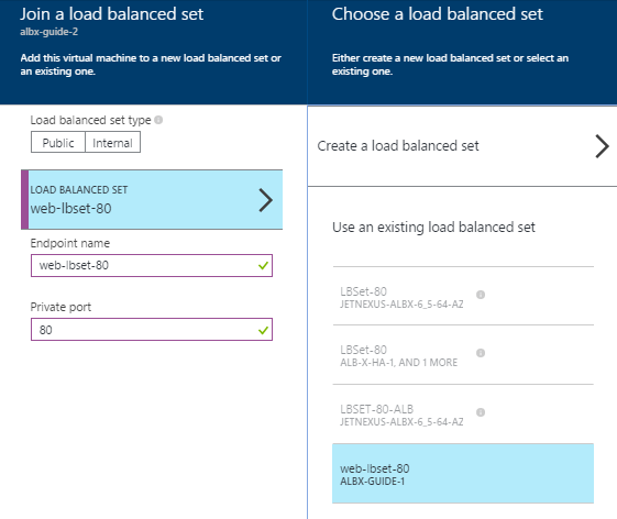 edgeNEXUS Load Balancer in Azure - Load Balance Set